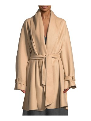 Gabriela Hearst Double-Face Light Cashmere Coat w/ Self-Belt