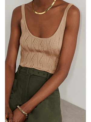Gabriela Hearst hurwitz ribbed cashmere and silk-blend tank