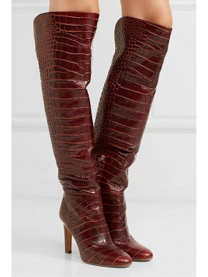 Gabriela Hearst linda croc-effect leather knee boots