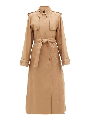 Gabriela Hearst lorna double-breasted pleated cotton trench coat