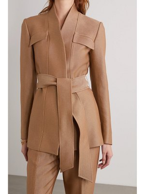 Gabriela Hearst proteus belted wool and silk-blend blazer