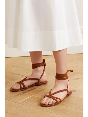Gabriela Hearst reeves leather and suede sandals