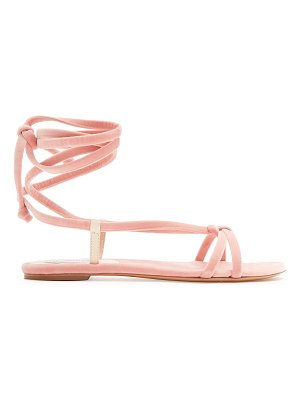 Gabriela Hearst Reeves velvet wraparound sandals