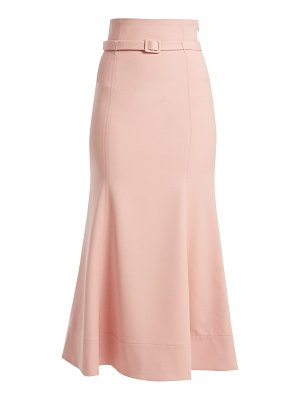 Gabriela Hearst severino wool crepe midi skirt