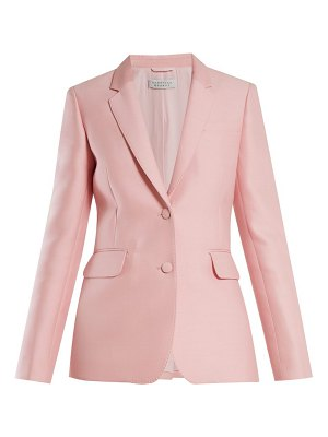 Gabriela Hearst sophie single breasted wool and silk blend blazer