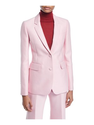 Gabriela Hearst Sophie Single-Breasted Two-Button Double-Face Wool Blazer