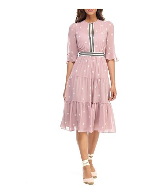 Gal Meets Glam Collection Abstract Dot Tiered Ruffle Midi Dress
