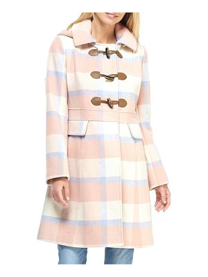 Gal Meets Glam Collection annelise plaid hooded coat