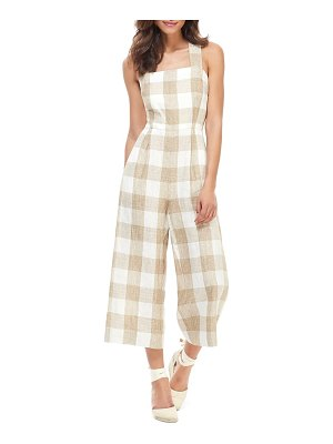 Gal Meets Glam Collection bailey cross back linen jumpsuit