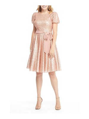 Gal Meets Glam Collection beatrix sequin crush fit & flare dress