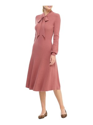 Gal Meets Glam Collection brianna tie neck long sleeve sweater dress