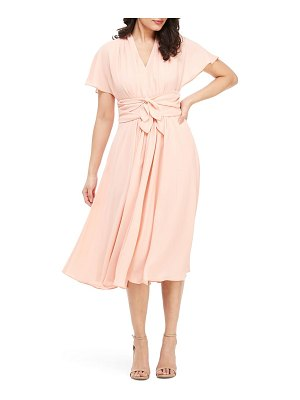 Gal Meets Glam Collection jane tie waist midi dress