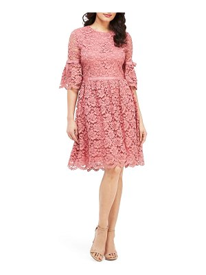 Gal Meets Glam Collection josephine scallop lace fit & flare dress