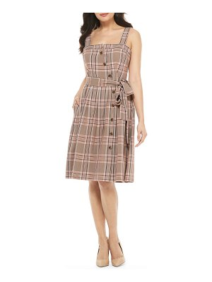 Gal Meets Glam Collection madison plaid button front sundress