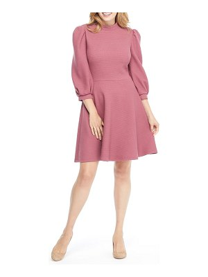 Gal Meets Glam Collection maggie texture knit fit & flare dress