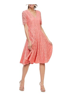 Gal Meets Glam Collection V-Neck Elbow-Sleeve Lace Cocktail Dress