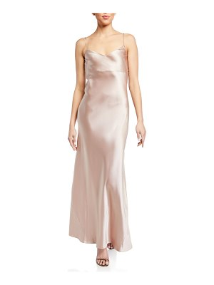 Galvan London Alcazar Satin Crepe Gown