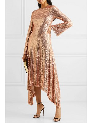 Galvan London asymmetric sequined tulle gown