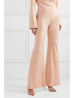 Galvan London crepe flared pants