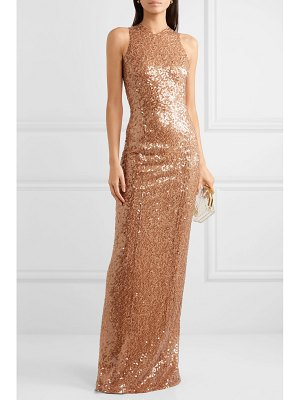 Galvan London metallic sequined tulle gown