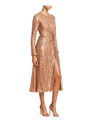 Galvan London pinwheel sequin twist-front dress