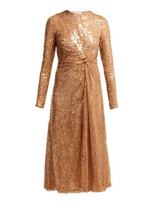 Galvan London Pinwheel Sequinned Midi Dress