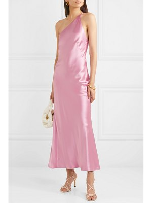 Galvan London roxy one-shoulder silk-satin maxi dress