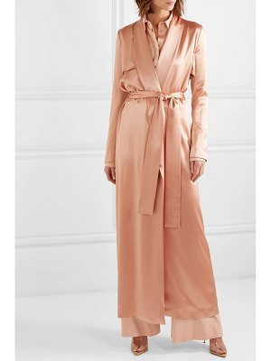 Galvan London satin trench coat