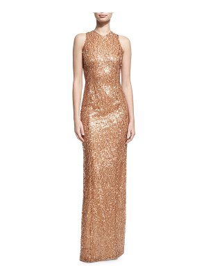 Galvan London Sequined Racerback Column Gown