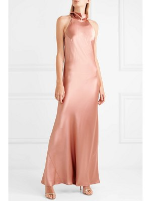 Galvan London silk-satin maxi dress