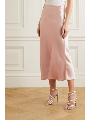 Galvan London valletta satin midi skirt