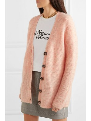 Ganni callahan oversized ribbed-knit cardigan