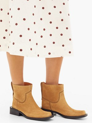 Ganni low mc suede ankle boots