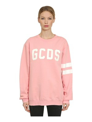 Gcds Glow in the dark logo printed sweatshirt