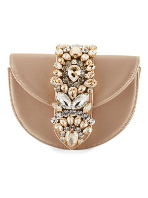 GEDEBE Brigitte Mini Jeweled Satin Top-Handle Bag