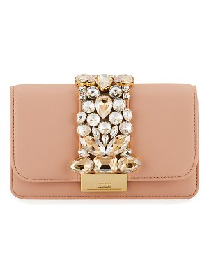 GEDEBE Cliky Mini Jeweled Napa Clutch Bag