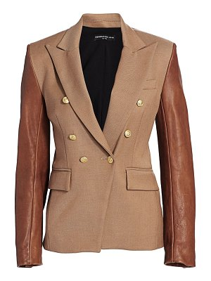 Generation Love enzo leather sleeve blazer