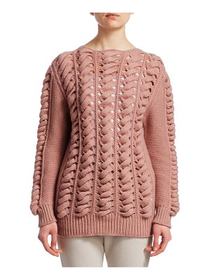 GENTRY PORTOFINO open cable knit pullover