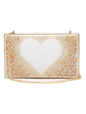 Germanier dégradé-crystal heart-print clutch bag