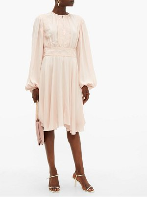 Giambattista Valli balloon sleeve crepe dress