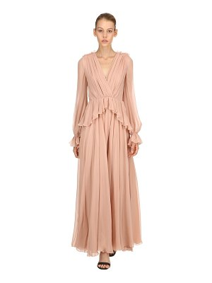 Giambattista Valli Draped silk dress
