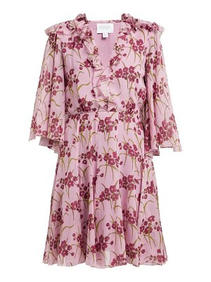 Giambattista Valli floral print silk crepe mini dress