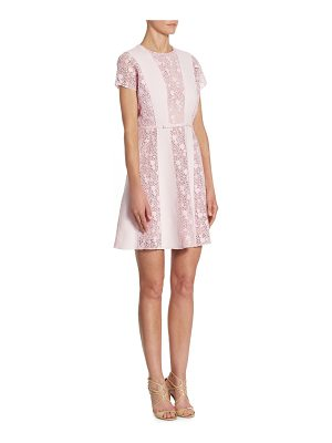 Giambattista Valli rosa macrame panel mini dress