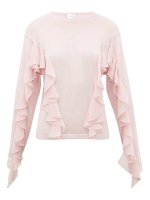 Giambattista Valli ruffled cashmere-blend sweater