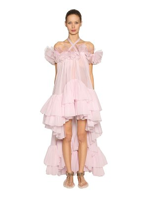 Giambattista Valli Ruffled silk georgette & organza dress