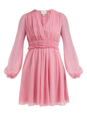 Giambattista Valli gathered silk chiffon mini dress