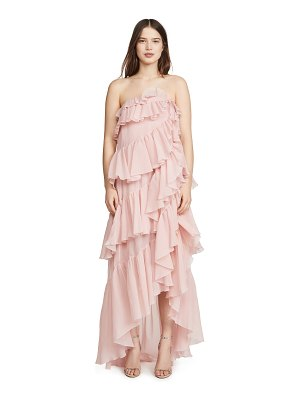 Giambattista Valli strapless tiered gown