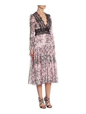 GIAMBATTISTA VALLI Zinnia Silk & Lace Gown