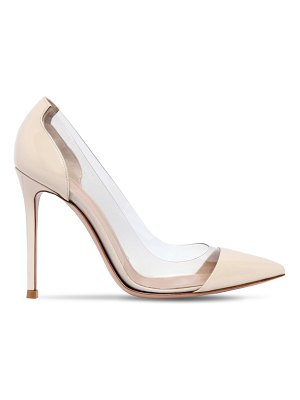 Gianvito Rossi 100mm plexi & patent leather pumps