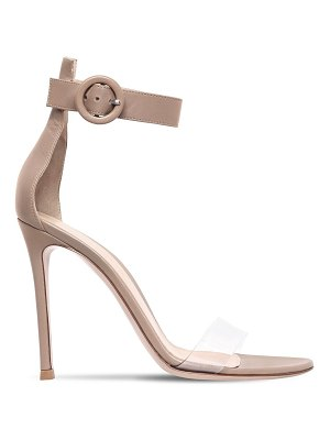 Gianvito Rossi 100mm portofino leather & plexi sandals